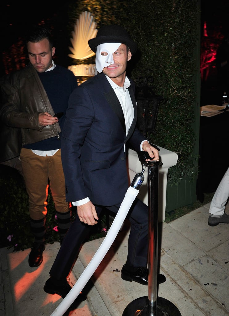 Ryan Seacrest haunted the Casamigos Halloween Party as the Phantom of the Opera.