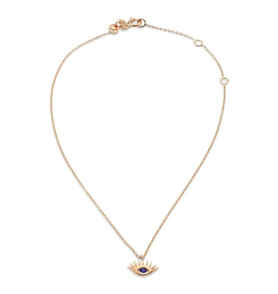 This Kismet by Milka Protect Me Blue Sapphire & 14K Rose Gold Evil Eye Anklet ($440) will become a staple from the moment you first slip it on.