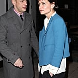 Katie Holmes attended a Broadway show in NYC.