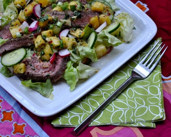 Summer of Salads: Steak with a Pineapple Punch