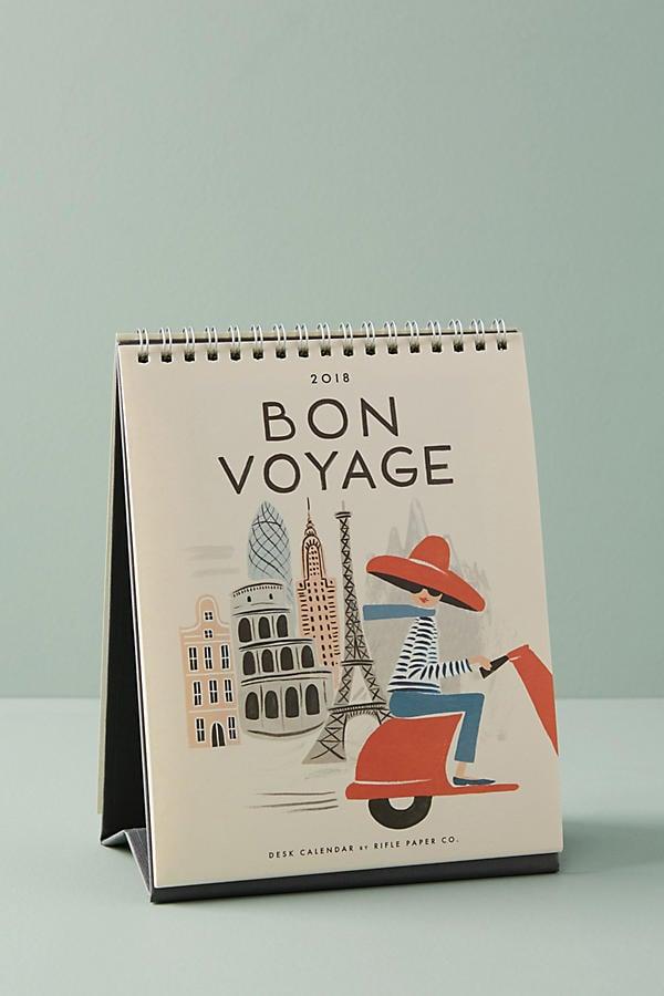 Bon Voyage 2018 Desk Calendar