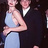 Minnie Driver et Matt Damon en 1997