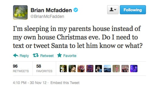 We reckon text him, Brian.