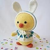 CR Originals Easter Chick in Bunny Ear Hoodie