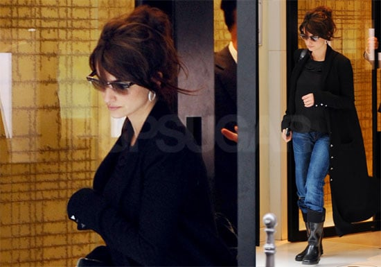Photos of Penelope Cruz Shopping at Chanel in Paris