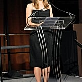 Jennifer Garner addressed the crowd, speaking on stage at the event.
