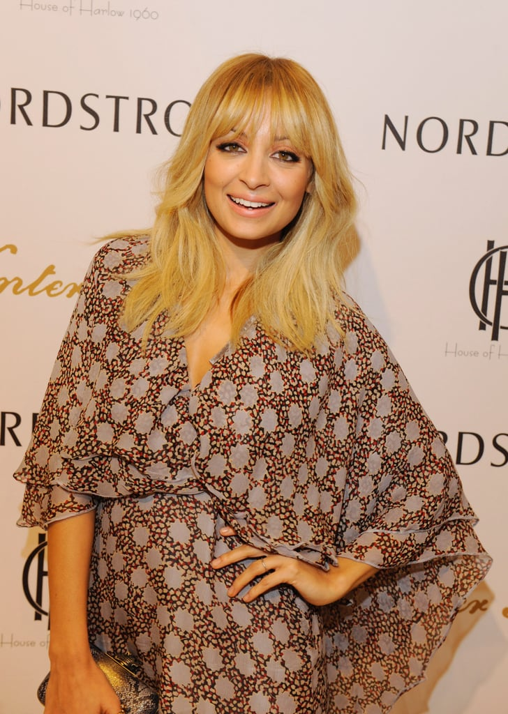 Nicole Richie wore a kimono style dress to her Nordstrom's event.