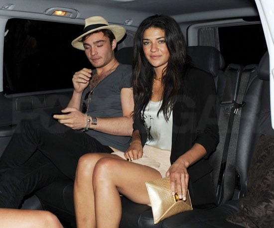 Slide Picture of Ed Westwick and Jessica Szohr at Soho House in London