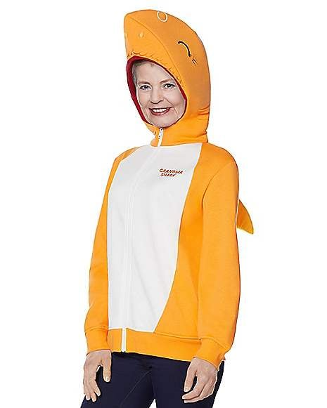 Adult Grandma Shark Costume Hoodie Baby Shark