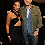 John Mayer and Alicia Keys snapped a photo together backstage.