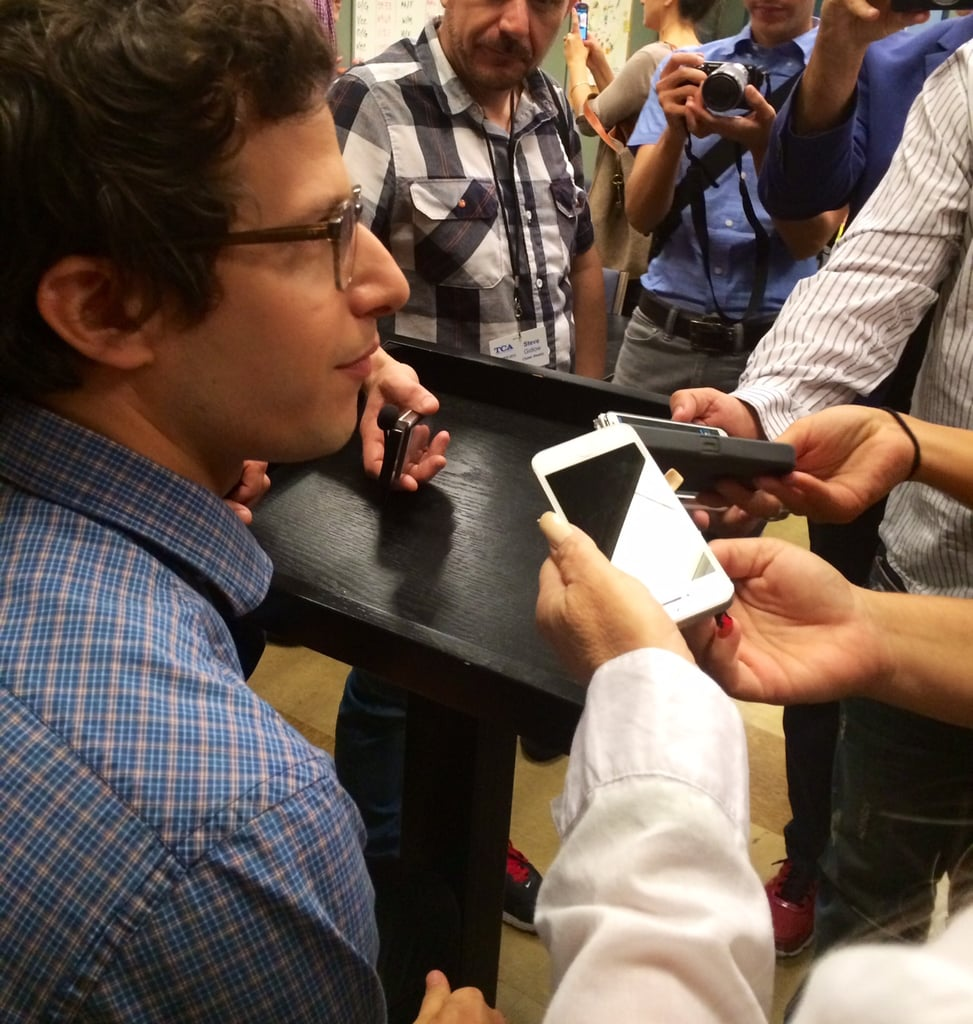 Andy Samberg was — of course — surrounded after the panel.