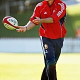 In July 2005, the prince played football with some of the British and Irish Lions in Wellington, New Zealand.