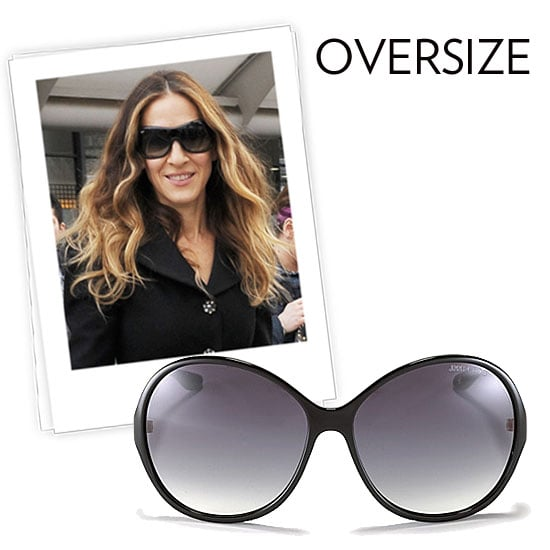 Why we love them: We love an oversize frame for its ability to make any look infinitely more glam. As any Hollywood pro, like Sarah Jessica Parker, knows — these may just be the easiest way to sneak out of the house without our makeup on. In all seriousness, the silhouette is practically timeless and utterly chic and cool all at once. How to wear them: Don't be shy — add these oversize frames to anything. From your workout wear to your posh day dresses, these lend an uncanny sophistication. Just beware — there is such a thing as too oversized. Keep them in proportion to your face and features. Jimmy Choo Oversize Round Fade Sunglasses ($265)