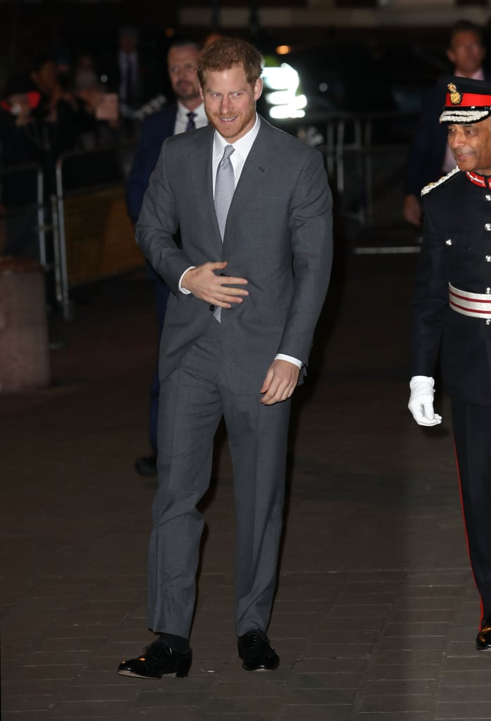 "After stepping out for his first engagement with Meghan Markle in England on November 27, Prince Harry resumed his royal duties when he attended the London Fire Brigade Carol Service at Westminster Cathedral on Monday. Clad in a gray suit, Harry stepped out out solo for the annual event, which includes holiday readings and traditional Christmas carols and honors the fire and rescue service team, as well as their families and former colleagues.  Harry's outing comes amid reports that the royal has asked Prince William to be his best man at his upcoming wedding to Meghan. ""Harry has several close guy friends, but there's no way he would ask anyone but William to take on the top job,"" a source told the publication. Harry also served as William's best man at his 2011 wedding to Kate Middleton. Another insider revealed that Prince George and Princess Charlotte will also have roles during their big day. If Pippa Middleton's wedding was any indication of what we can expect, we are so, so ready for Harry and Meghan to tie the knot on May 21!"