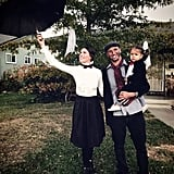 Mary Poppins, Bert, and a Penguin