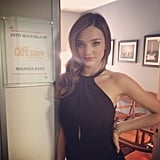 Miranda Kerr hung out backstage while she waited to ake an appearance on The Late Show with Chris Ferguson. Source: Instagram user mirandakerrverified