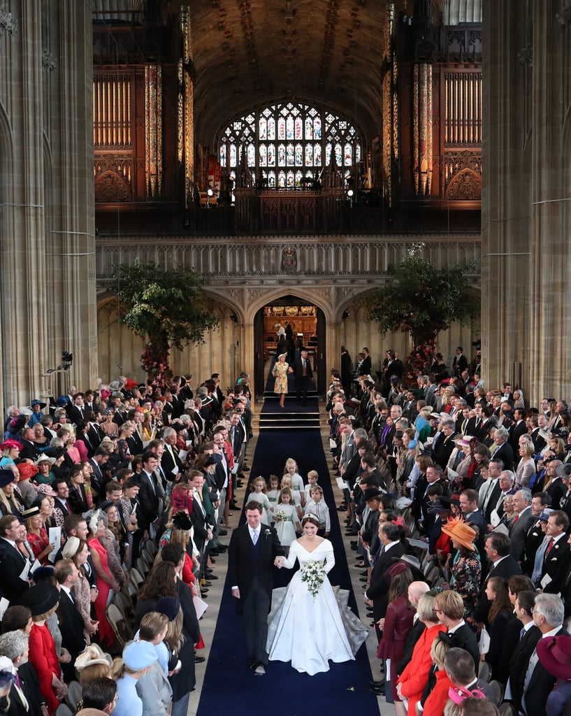 In a royal wedding, things can get pretty expensive, and the royal family customarily foots most of the bill, including the service, reception, flowers, music, and decorations. Something not usually covered by the royals? The cost of security, which is covered by taxpayers and estimated to be around $2 million for Eugenie and Jack's nuptials. That's certainly not a tiny number, but in comparison to Harry and Meghan's $41 million bill, it's a bit easier to swallow.