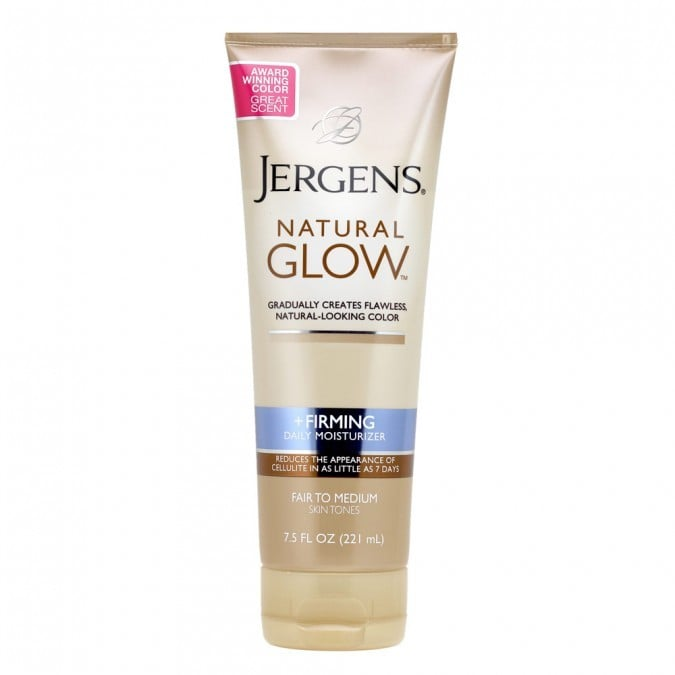 Build up to the perfect shade by slathering this firming gradual tan every day until you reach your perfect colour.  Jergens Natural Glow Firming Daily Moisturiser ($14.99)