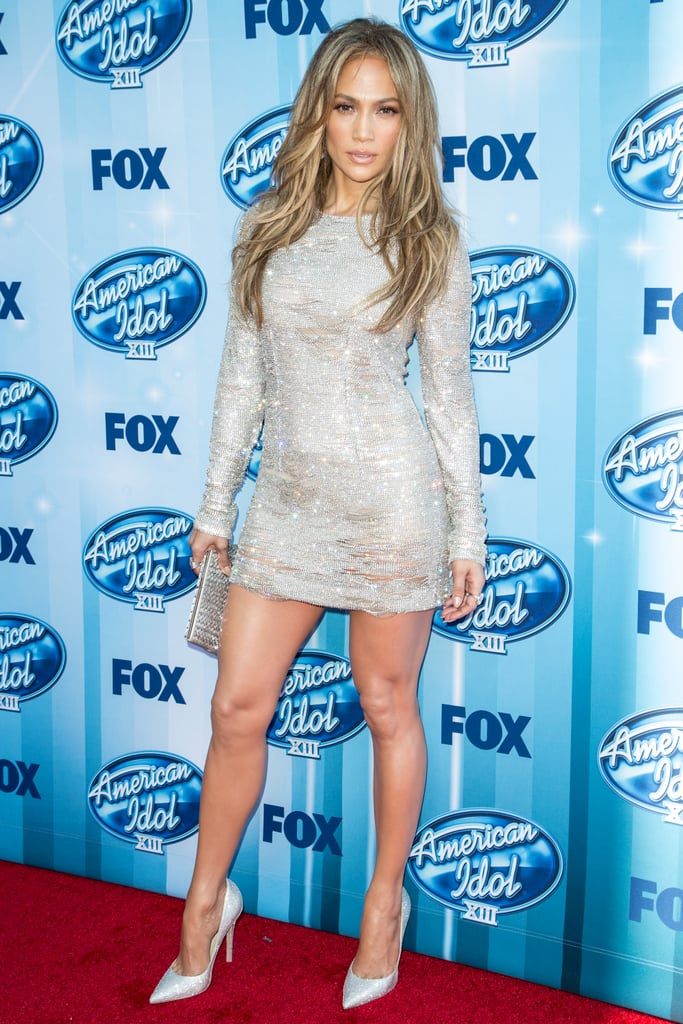 In a Silver Minidress in 2014