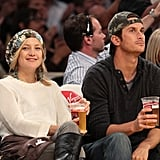 Kate Hudson took in a Lakers game with her brother Oliver in November 2008.