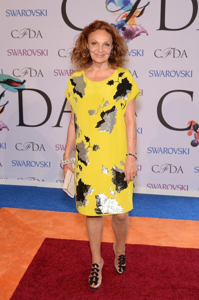 Diane von Furstenberg at the 2014 CFDA Awards