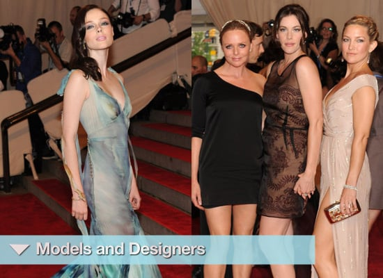 Photos of Models and Designers at the 2010 MET Costume Institute Gala