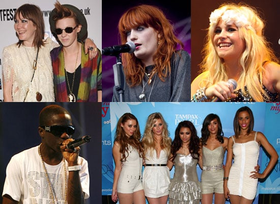 Photos of MTV EMA UK & Ireland New Act Nominees Florence and the Machine, La Roux, Tinchy Stryder, Pixie Lott, The Saturdays
