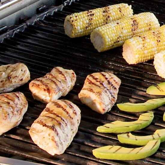 Grilled Avocado and Spicy Honey Glazed Chicken Recipe