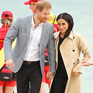 Meghan Markle Black Button Club Monaco Dress