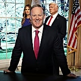Sean Spicer Looked Oddly Ecstatic to Host the Event