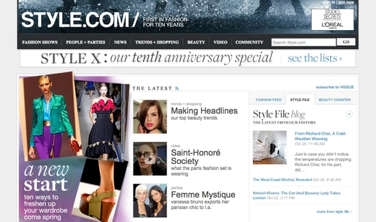 Style.com Moved from Conde Nast Digital to Fairchild Fashion Group