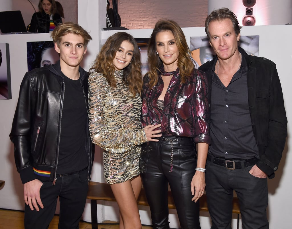 "Kaia Gerber was named the 2017 face of Marc Jacobs Beauty, and on Wednesday, the 15-year-old model stepped out for an NYC party in her honor. Kaia was joined by mom Cindy, dad Rande, and brother Presley, and the stylish foursome huddled together for photos inside. In addition to landing the major campaign, Kaia is also featured in Love Magazine's The Fans Issue. Not only did Kendall Jenner exercise her photography skills by shooting Kaia for the magazine, but  she even shared that Kaia will one day become a friendly rival in the industry, saying, ""She's getting more beautiful, which I did not even think was possible. Listen, we're all trying to get all our work in now before she hits the scene. When that happens we'll all go broke!"" Something tells us Kendall is going to be just fine.       Related:                                                                                                           A Closer Look at the Fabulous Life of Cindy Crawford's Family"