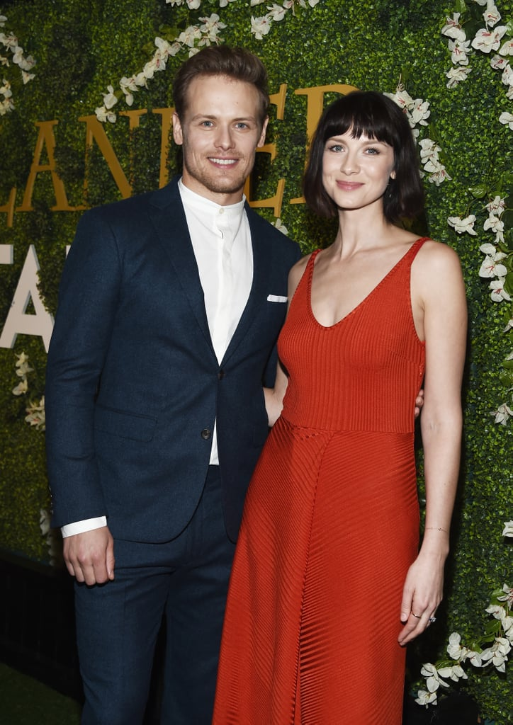 "If you're like us and are anxiously waiting for season four of Outlander, Sam Heughan and Caitriona Balfe's latest outing should help ease some of the pain. On Sunday, the costars — and real-life pals — stepped out together for Starz's Outlander panel and special screening. In addition to making a striking pair on the red carpet, Sam and Caitriona shed some light on what fans can expect to see in the coming season.  ""We finally actually get to see them in some sort of state of domestic bliss,"" Caitriona, who plays Claire, told Elle. ""Finally, they're not being ripped from home or made to travel across oceans. They actually settle, and it's a different dynamic, and it's nice to explore that. Like, what is this relationship when it's normal? Because we haven't really had that."" Sam, who plays Jamie, also added that domesticity isn't one of Jamie's strong suits, so that may lead to some arguments. ""He's very practical,"" Sam said. ""Like why does he need to put the toilet seat down? It'd probably drive him irate that she'd clean up around him, or make him put things in certain places. I'm sure their domestic arguments are pretty fiery."" Unlike the show, Sam and Caitriona are only friends in real life. Sam is currently dating actress MacKenzie Mauzy and Caitriona recently got engaged to boyfriend Tony McGill.       Related:                                                                                                           The Exact Moment Outlander's Caitriona Balfe Knew Sam Heughan Was a ""Solid Friend"""