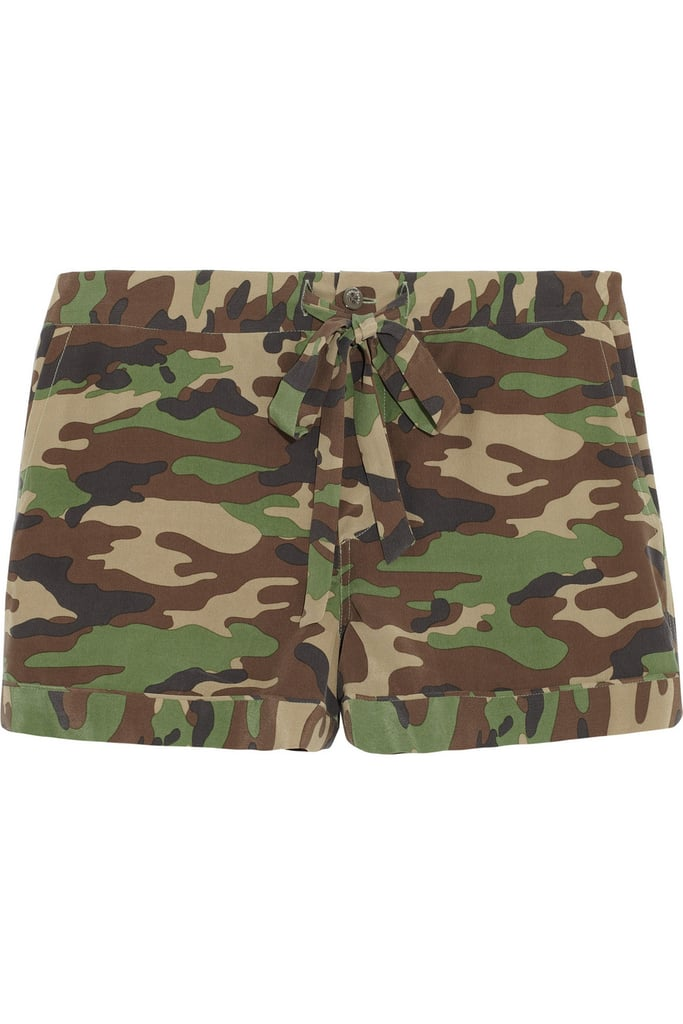 I hadn't found a way to work trendy camouflage into my wardrobe, until I discovered Equipment's pajama shorts ($180). I'd happily blend in with my surroundings if those surroundings are my bed!   — Randy Miller, associate editor