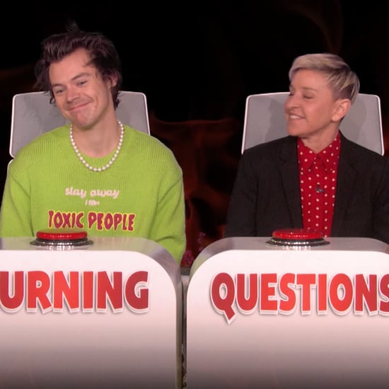 "Watch Harry Style Answer Ellen's ""Burning Questions"""