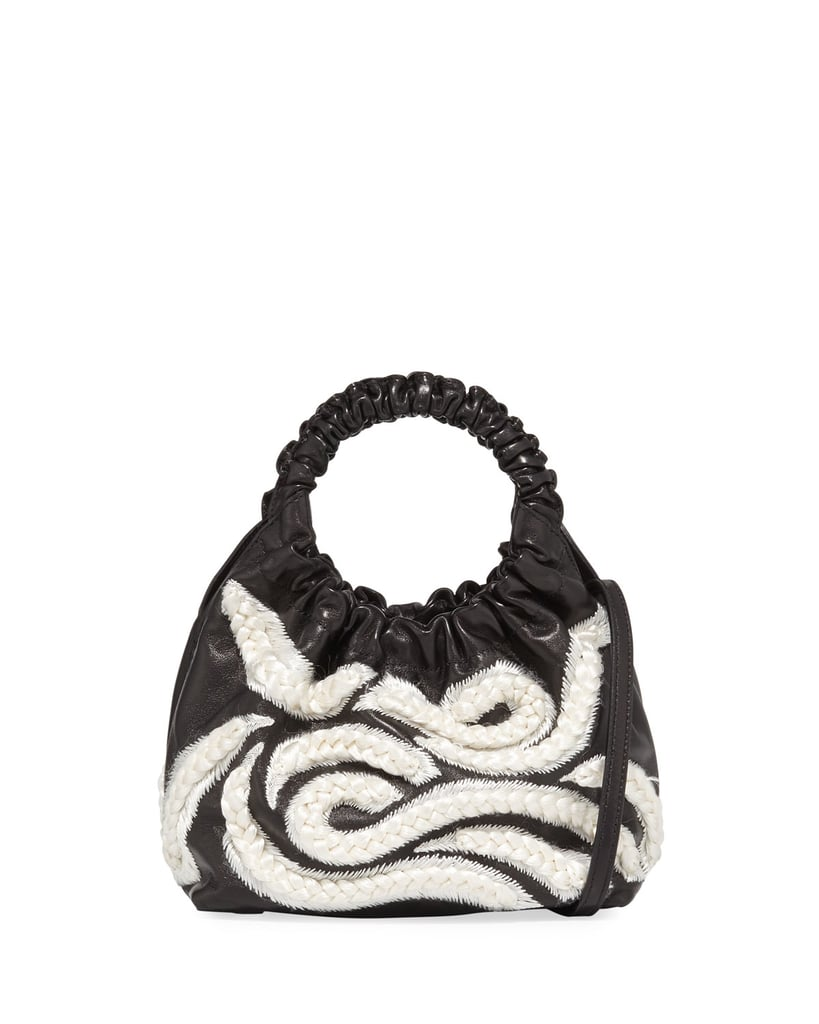The Row Double Circle Small Embroidered Top Handle Bag