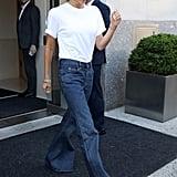 Victoria Beckham Flare Jeans at Fashion Week