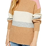 Topshop Supersoft Stripe Crewneck Sweater