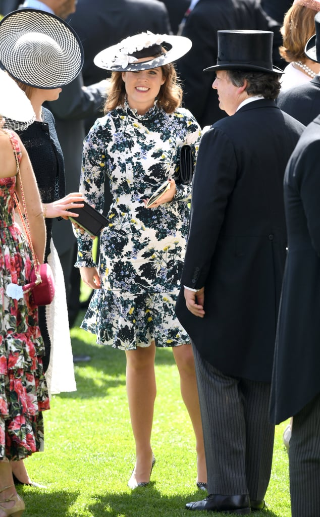 The princess wore this high-neck, floral Erdem dress to the Royal Ascot in June 2018, but she repeated it again in July, albeit sans hat, for a meeting at the UN headquarters.