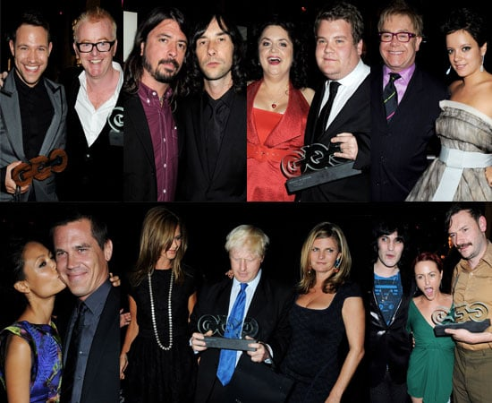 Photos Backstage At 2008 GQ Men Of The Year Awards Plus All The Winners and Details Of Lily Allen and Elton John's Fight