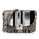 Prada Python/Suede Striped Shoulder Bag, Natural/White/Black (Roccia+Nube+Nero) ($4,100)