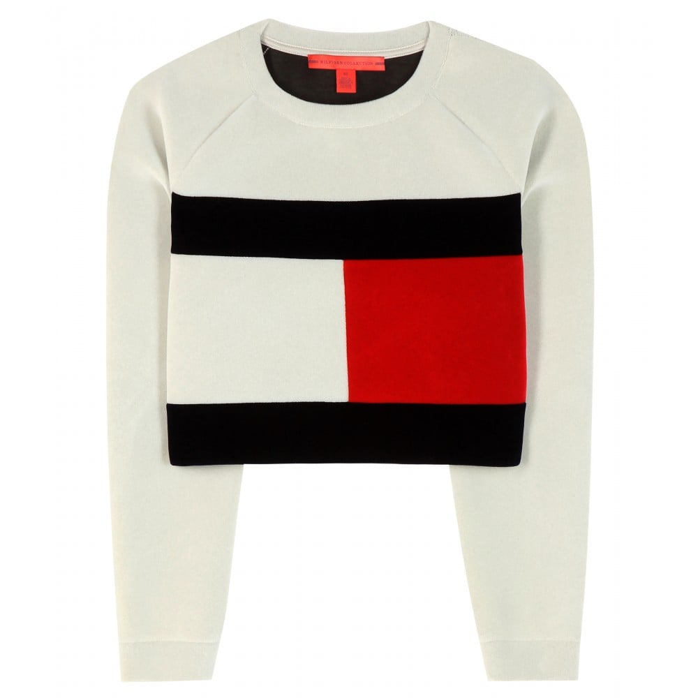 63904e87 Tommy x MyTheresa Exclusive Flag Cropped Sweatshirt ($309) | Tommy ...