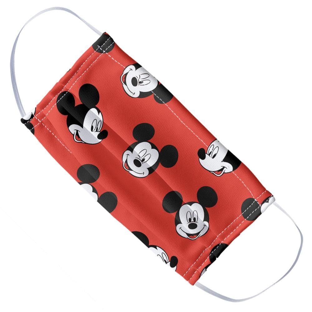 Mickey Mouse Heads Pattern Cloth Face Mask