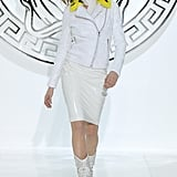 Cara Delevingne gave Versace the punk edge it demanded for the Fall 2013 runway.