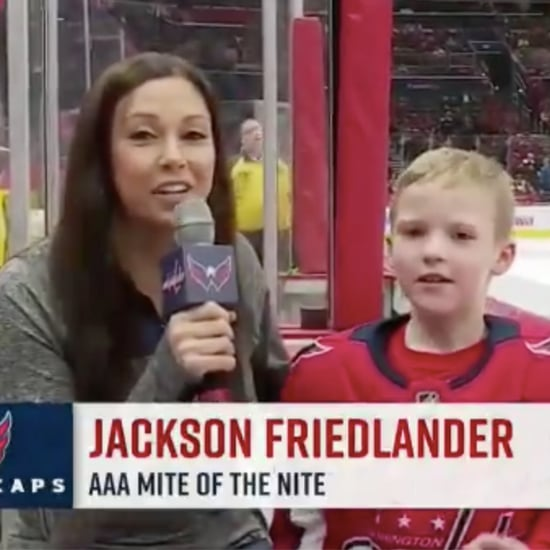 Boy Gives Hilarious Interview at Hockey Game | Video