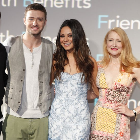 Justin Timberlake towered over his petite costars Mila Kunis and Patricia Clarkson.