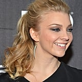 To give your hair texture at the roots like Natalie Dormer's, run your fingers through your hair instead of a brush before putting in the elastic.