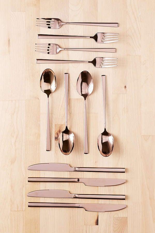 Metallic Flatware 12-Piece Set