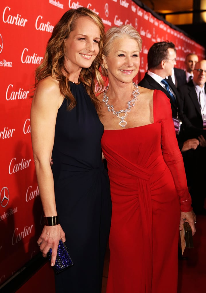 Helen Hunt and Helen Mirren stopped for a photo.