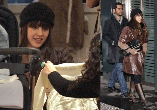 Photos of Jessica Alba and Cash Warren Shopping in Paris